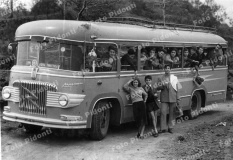 gita scolastica sull'Etna anni 50