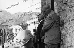 comizio Amintore Fanfani anni 50