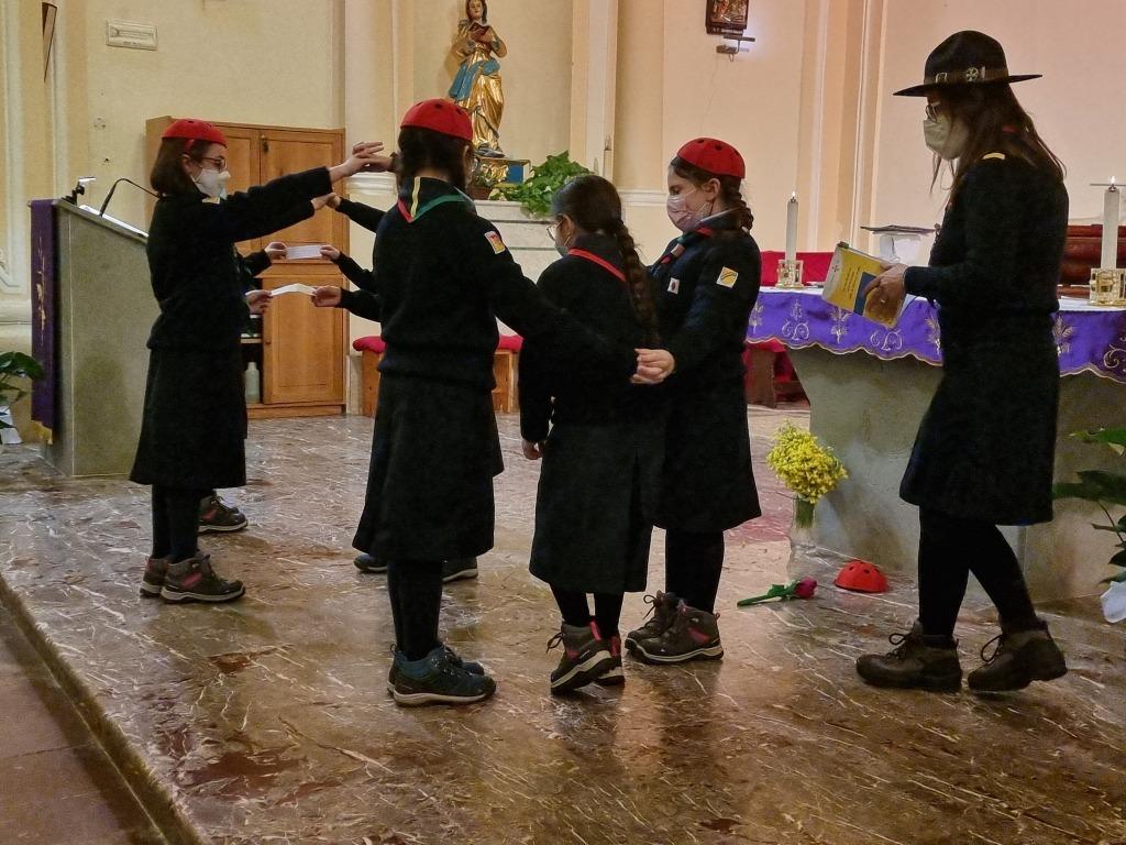 Scout BP Day 2020 Clarissa Letizia fa la sua promessa da coccinella 20210228_154520