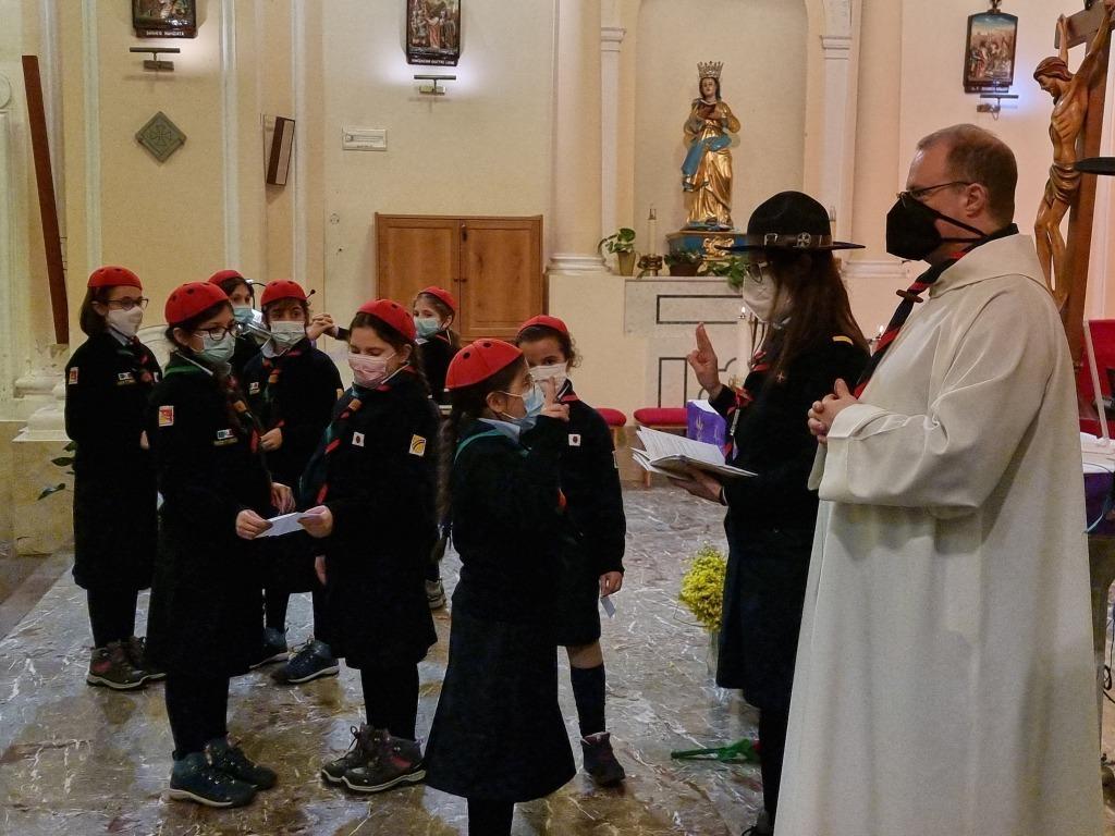 Scout BP Day 2020 Clarissa Letizia fa la sua promessa da coccinella 20210228_154719