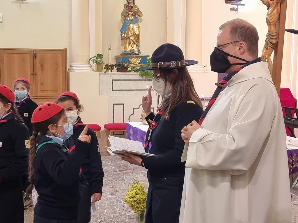 Scout BP Day 2020 Clarissa Letizia fa la sua promessa da coccinella 20210228_154724