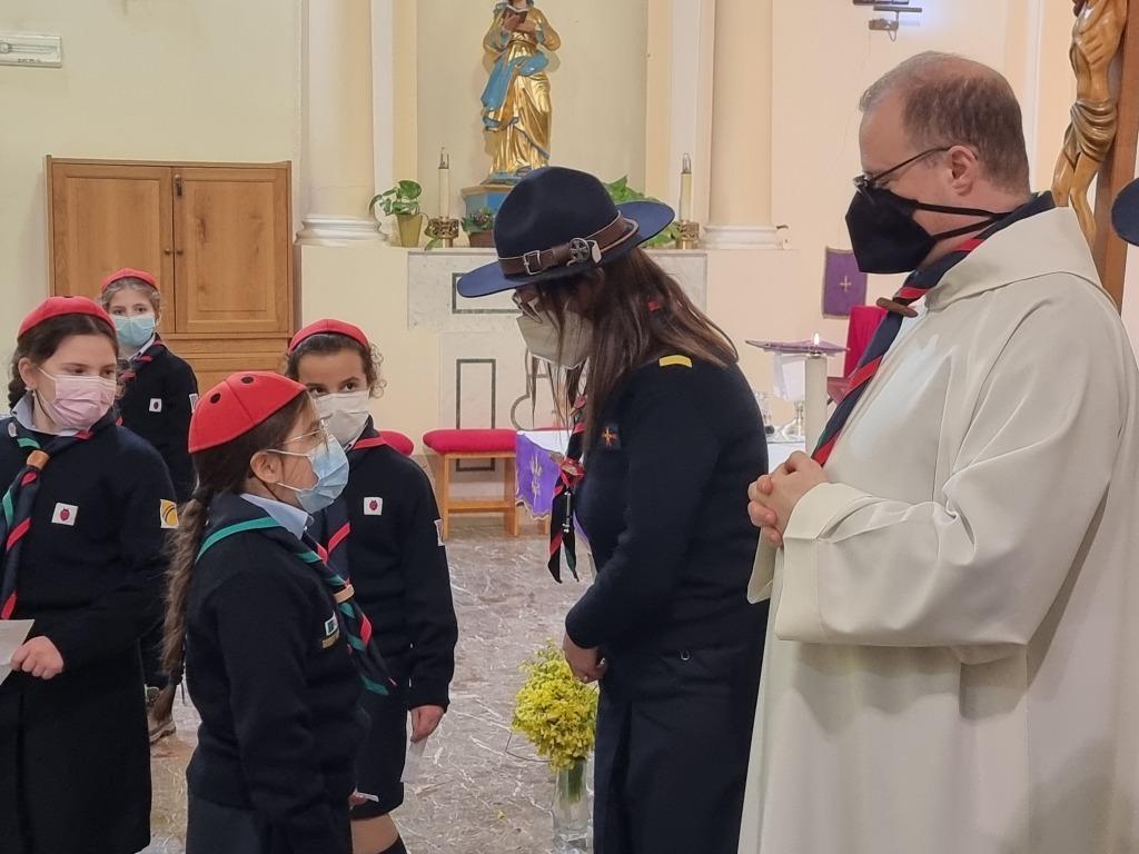 Scout BP Day 2020 Clarissa Letizia fa la sua promessa da coccinella 20210228_154747