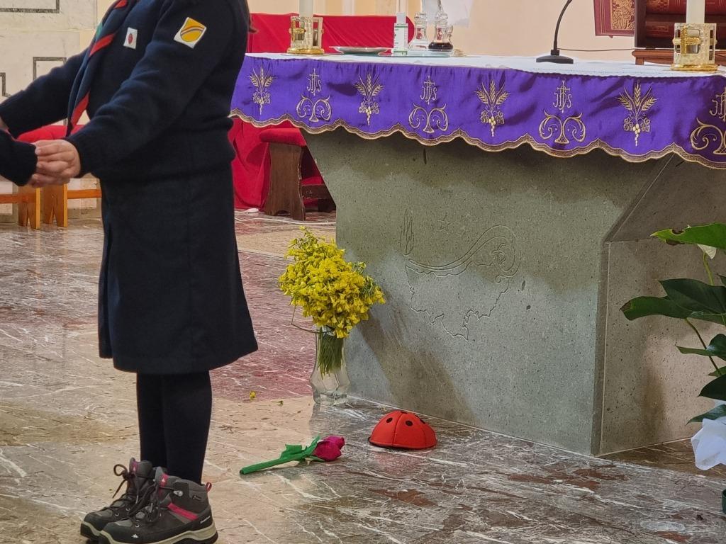 Scout BP Day 2020 Clarissa Letizia fa la sua promessa da coccinella 20210228_154554