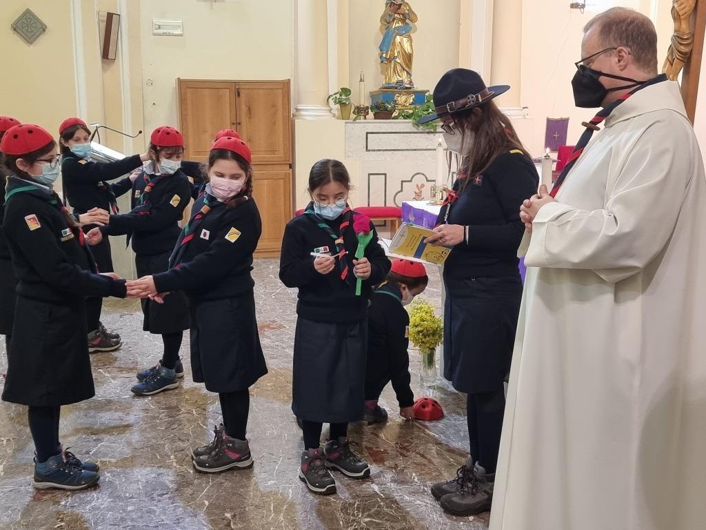 Scout BP Day 2020 Clarissa Letizia fa la sua promessa da coccinella 20210228_154638