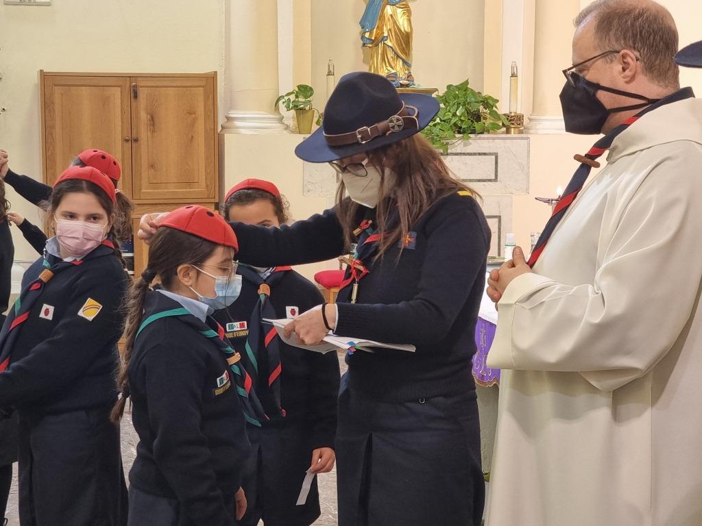 Scout BP Day 2020 Clarissa Letizia fa la sua promessa da coccinella 20210228_154653