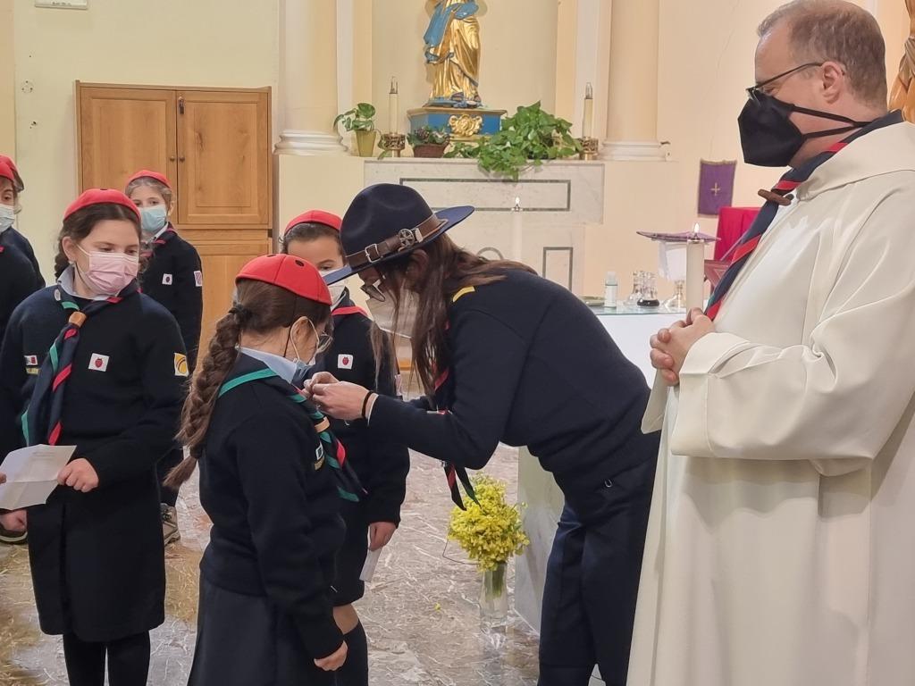 Scout BP Day 2020 Clarissa Letizia fa la sua promessa da coccinella 20210228_154751