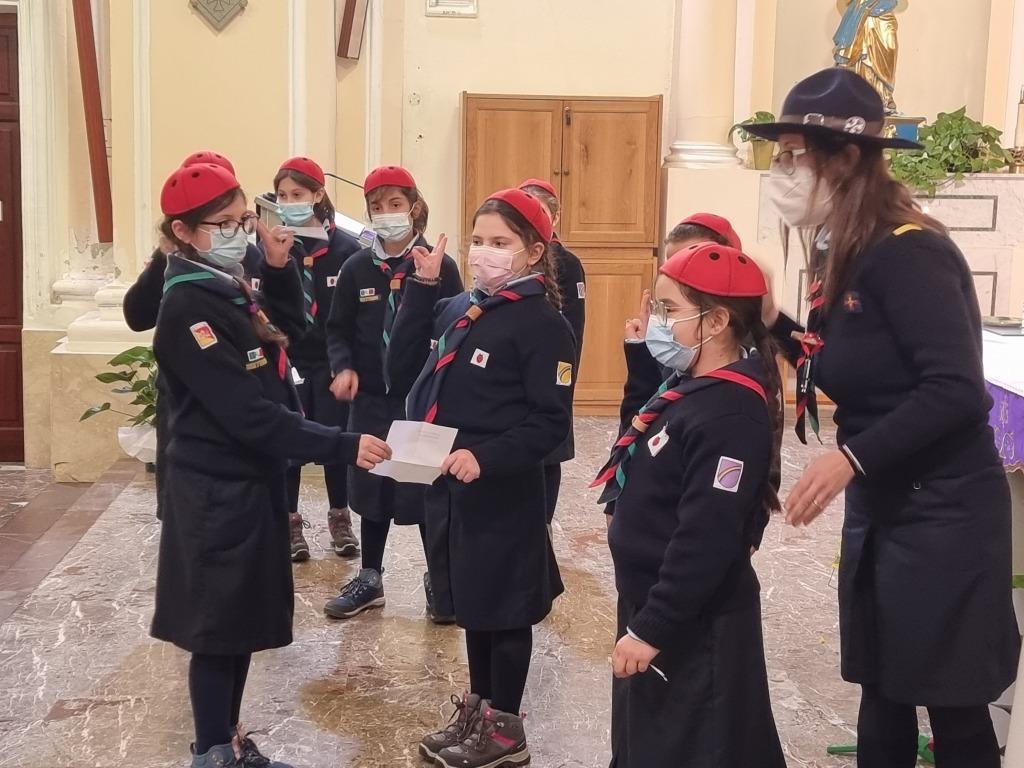 Scout BP Day 2020 Clarissa Letizia fa la sua promessa da coccinella 20210228_154806