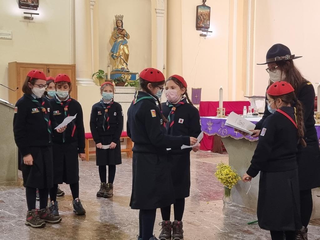 Scout BP Day 2020 Clarissa Letizia fa la sua promessa da coccinella 20210228_154905