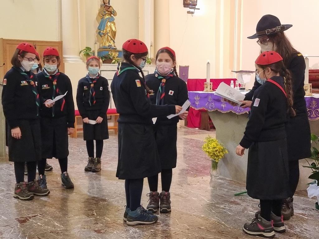 Scout BP Day 2020 Clarissa Letizia fa la sua promessa da coccinella 20210228_154911